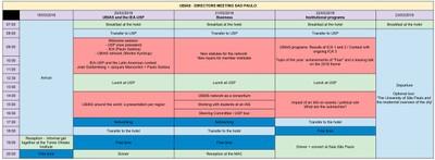 UBIAS Directors' Meeting 2018 - Programme