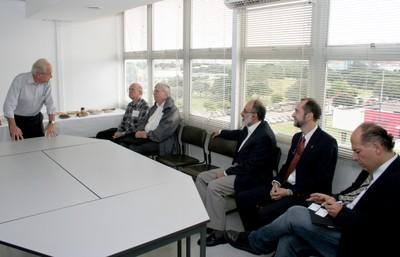 César Ades, Eliezer Rabinovici, Peter Goddard, Guilherme Ary Plonski and Antonio Mauro Saraiva