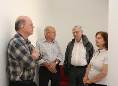 Eliezer Rabinovici, César Ades and Peter Goddard