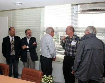 Guilherme Ary Plonski, César Ades, Eliezer Rabinovici and Peter Goddard