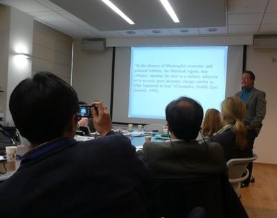 Eli Podeh speaking
