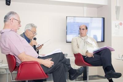 From left to right: Bernardo Sorj, Alfredo Bosi and Enrique Larretta