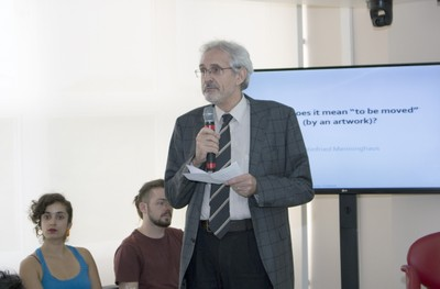 Helmut Galle during the opening of the event