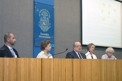 Eduardo Mario Mediondo, Stela Goldstein, Newton de Lima Azevedo, Sonia Chapman and Pedro Jacobi