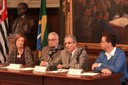 Maria Alice Setubal, Paulo Saldiva, Marcelo de Andrade Romero and Eduardo Saron