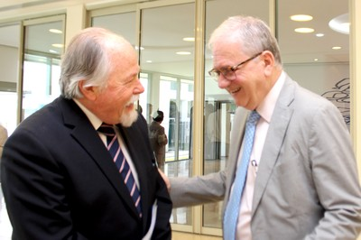 Jacques Marcovitch and USP's President Marco Antonio Zago