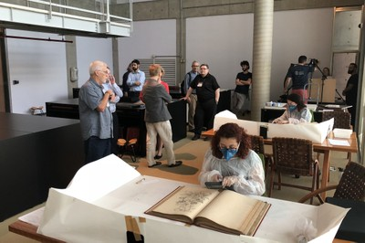 Participants visit the Brasiliana Library - March 21