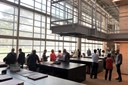 Participants visit the Brasiliana Guita e José Mindlin Library