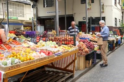 Street market in São Paulo