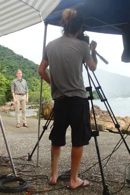 Valtteri Arstila during a filming session