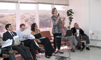 Marcelo Vespoli Takaoka, Fabio Feldman, Maritta Koch-Weser, Martin Grossmann and Paulo Nogueira Neto