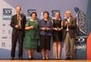 Antonio Mauro Saraiva, Vera Lúcia Imperatriz Fonseca, Dora Ann Lange Canhos, Denise de Araújo Alves e Plínio Martins Filho