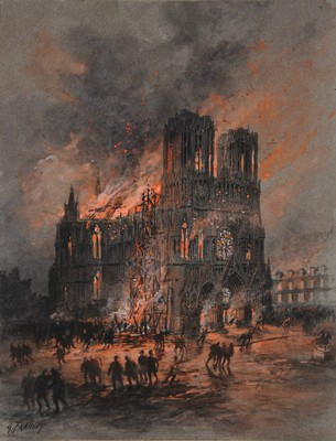 Gustave Fraipont Incêndio da Catedral de Reims