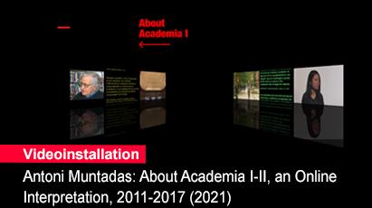 Home 1- Videoinstallation Antoni Muntadas