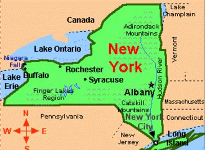 Mapa de NY Catskill