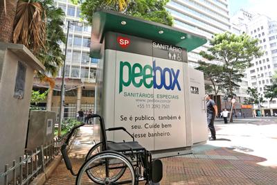 Banheiro público em São Paulo