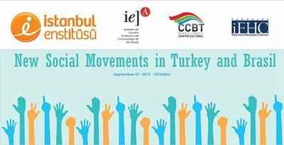Banner do workshop New Social Movements in Turkey and Brazil