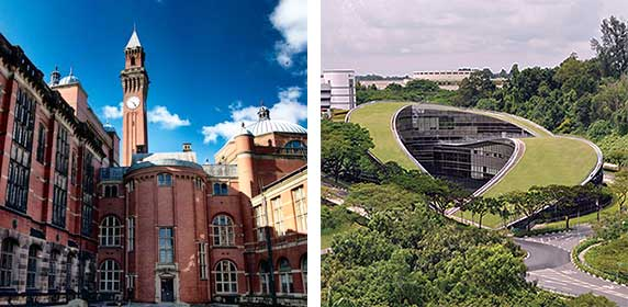 Birmingham e Nanyang (Universidades)