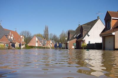 Inundação na cidade de Blendecques