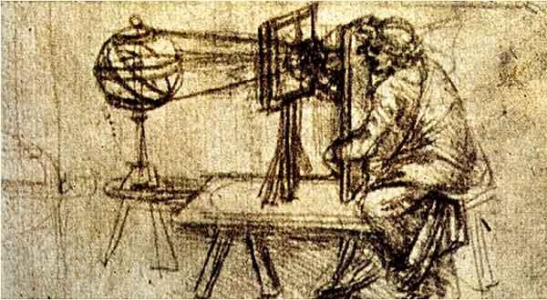 Câmara escura - Leonardo da Vinci - Codex Atlanticus