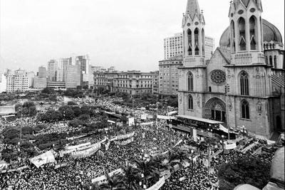 Campanha Diretas já - Praça da Sé