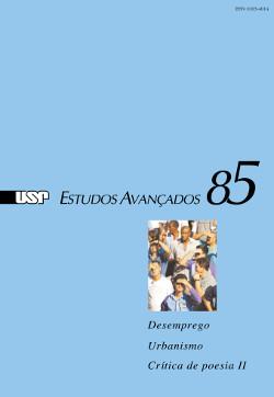 """Capa da revista """"Estudos Avançados"""" 85"""