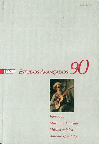 """Capa da revista """"Estudos Avançados"""" 90"""