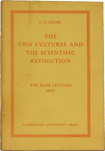 Capa de 'The Two Cultures""