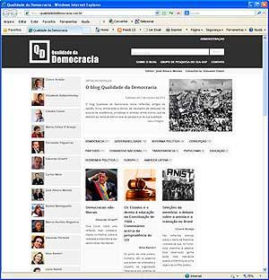 Capa do blog Qualidade da Democracia