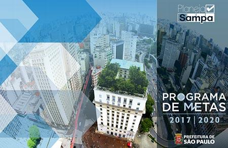 """Capa do """"Programa de Metas"""" 2017-2020 da Prefeitura de São Paulo"""