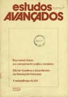 Capa Revista Estudos Avançados v1 n1
