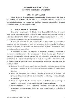 Edital IEA 02/2021 - PD