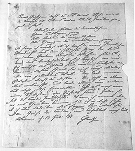 Carta Goethe