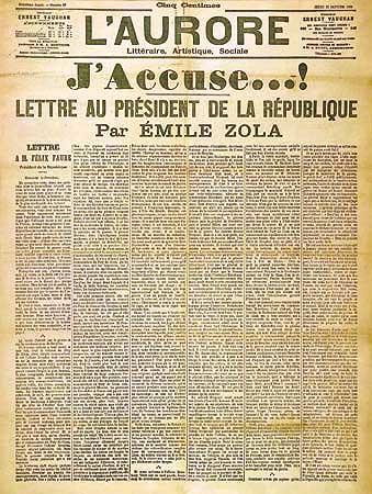 """Carta """"J'Accuse...!"""", de Émile Zola"""