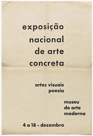 """Cartaz da """"1ª Exposição Nacional de Arte Concreta"""", 1956"""