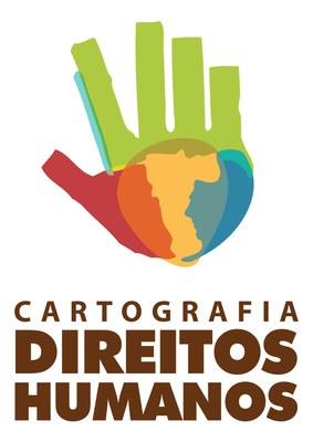 Cartografia dos Direitos Humanos em São Paulo - Logomarca Vertical
