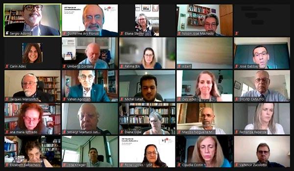 Cerimônia virtual de concessão de título de professor honorário a quatro ex-diretores