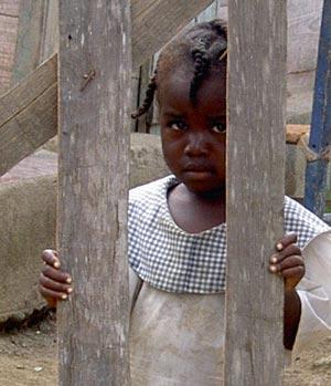 Criança haitiana