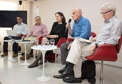 Eduardo Marques, José Álvaro Moisés, Heide Hackmann, Eduardo Viola e Pedro Jacobi