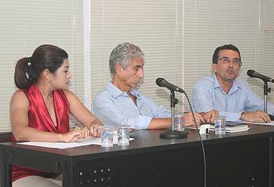 Elbia Mello, José Eli da Veiga e Osvaldo Soliano Pereira