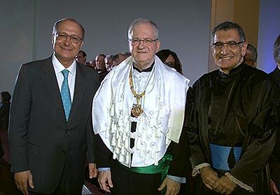 Geraldo Alckmin, Marco Antonio Zago e Vahan Agopyan