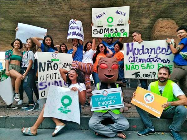 Greve Global pelo Clima - Manifestantes em São Paulo