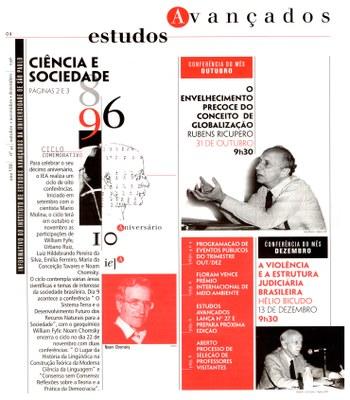 Informativo do Instituto de Estudos Avançados ano VIII número 45 - capa