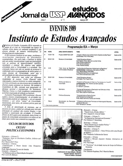 Informativo IEA n. 1
