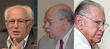 José Goldemberg, José de Souza Martins e Eduardo Moacyr Krieger