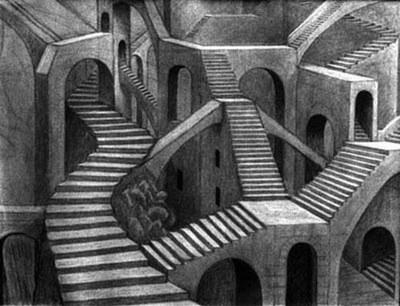 Labirinto de escadas
