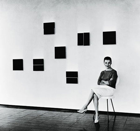 Lígia Clark na 1ª Exposição Nacional de Arte Neoconcreta, 1957