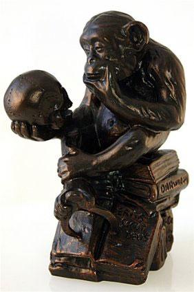 Macaco pensando - Escultura
