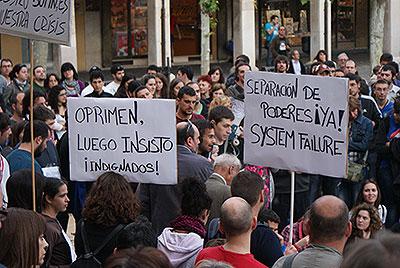 Manifestação de 'Indignados' na Espanha