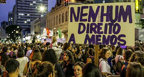 Manifestação de mulheres em Curitiba (2018)